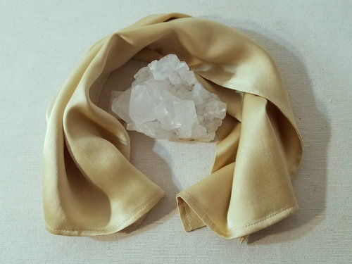 Scarf Peace Silk SUNGOLD • herbal dyed by Berta Maria • 100% Silk